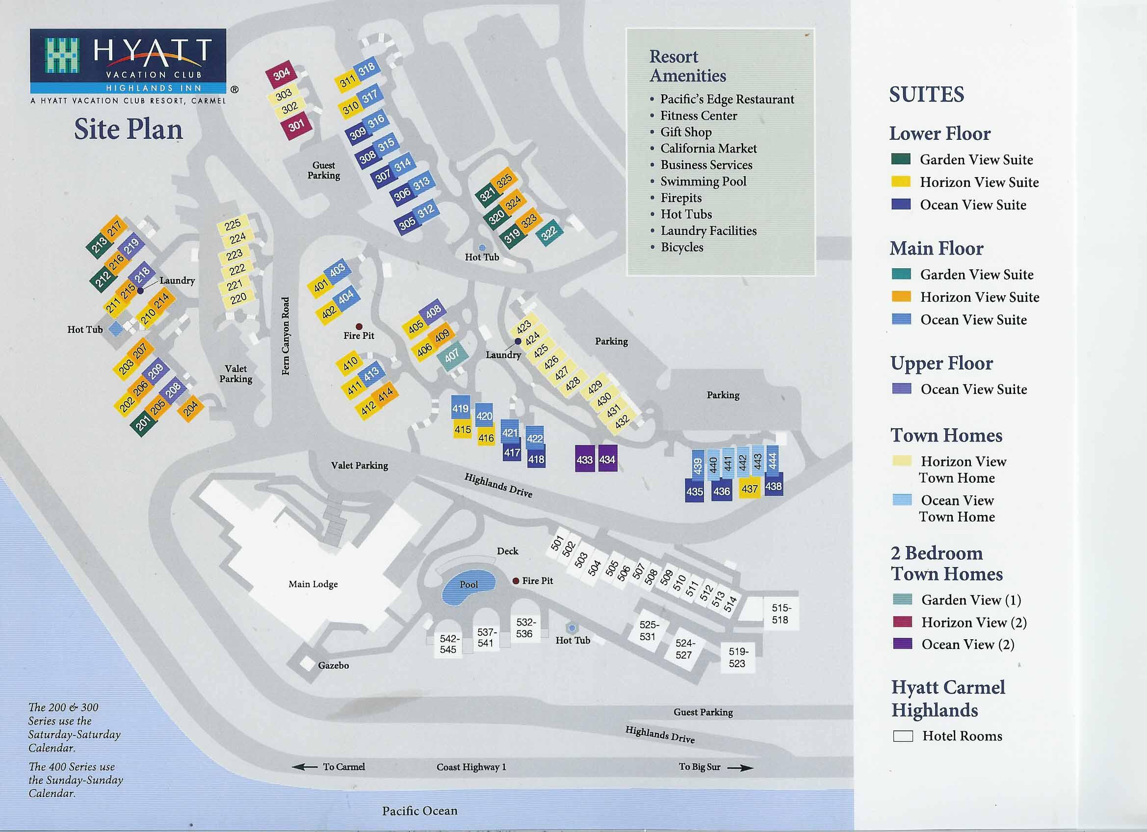 hyatt highlands inn resort map. hyatt highlands inn timeshare resale  paradise timeshare resale